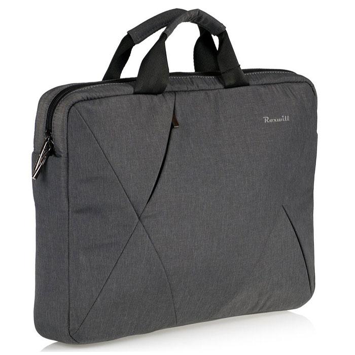 Roxwill DB50, Dark Grey cумка для ноутбука 15.4DB50 dark greyСумка Roxwill DB50 для ноутбуков до 15.4. Основной материал - высококачественный нейлон, который надежно защитит содержимое от пыли, влаги и царапин. Для защиты от ударов сумка имеет подкладку из синтетического материала. Имеет несколько карманов для аксессуаров и отдел для документов.Двойная застежка молния для удобного доступа к ноутбуку. Дно и бока кармана для ноутбука усилены материалом Memory Form для защиты ноутбука от случайных ударов.Сумка дополнена плечевым ремнем регулируемой длины. На внешней задней стороне - карман на застежке-молнии.