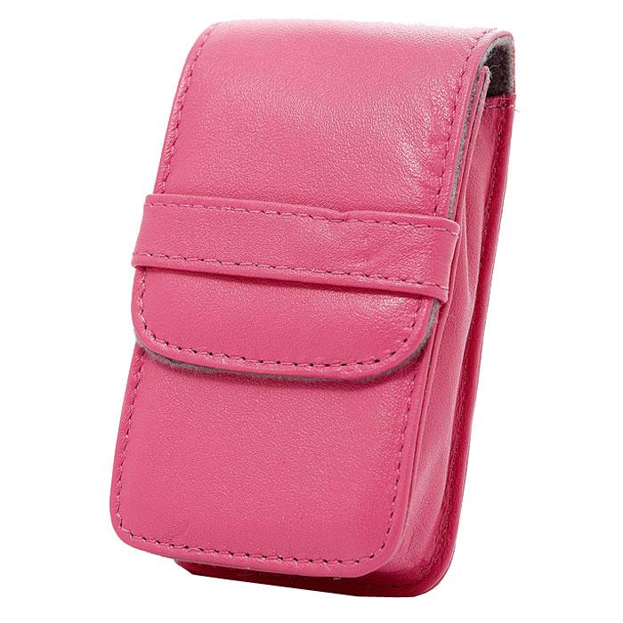 Roxwill G30, Pink чехол для фото- и видеокамерG30 pinkRoxwill G30 - надежный чехол для компактных фотокамер. Он гарантированно защитит вашу камеру от случайных ударов и царапин, а также от пыли и влаги. Закрывается на магнитную застежку и обеспечивает быстрый доступ к фотокамере. Для переноски предусмотрено крепление на поясном ремне.