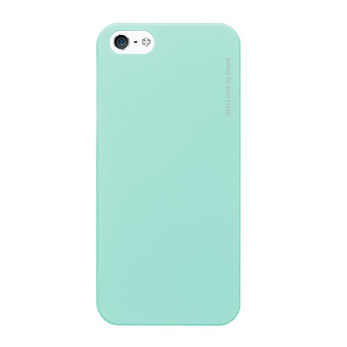 Deppa Air Case чехол для iPhone 5/5s, Mint83092Чехол Deppa Air Case для iPhone 5/5s/SE предназначен для защиты корпуса смартфона от механических повреждений и царапин в процессе эксплуатации. Имеется свободный доступ ко всем разъемам и кнопкам устройства. Чехол изготовлен из поликарбоната Teijin производства Японии с покрытием Soft touch.