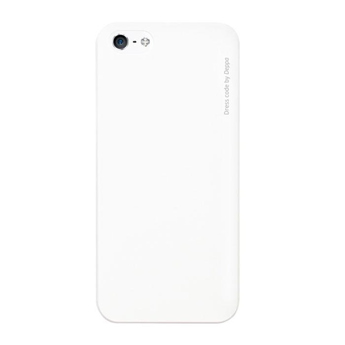 Deppa Air Case чехол для iPhone 5/5s, White83010Чехол Deppa Air Case для iPhone 5/5s/SE предназначен для защиты корпуса смартфона от механических повреждений и царапин в процессе эксплуатации. Имеется свободный доступ ко всем разъемам и кнопкам устройства. Чехол изготовлен из поликарбоната Teijin производства Японии с покрытием Soft touch.
