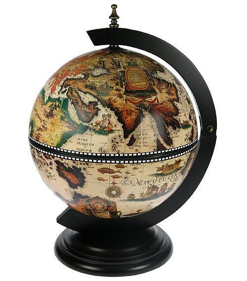 Глобус-бар настольный, диаметр 33 см