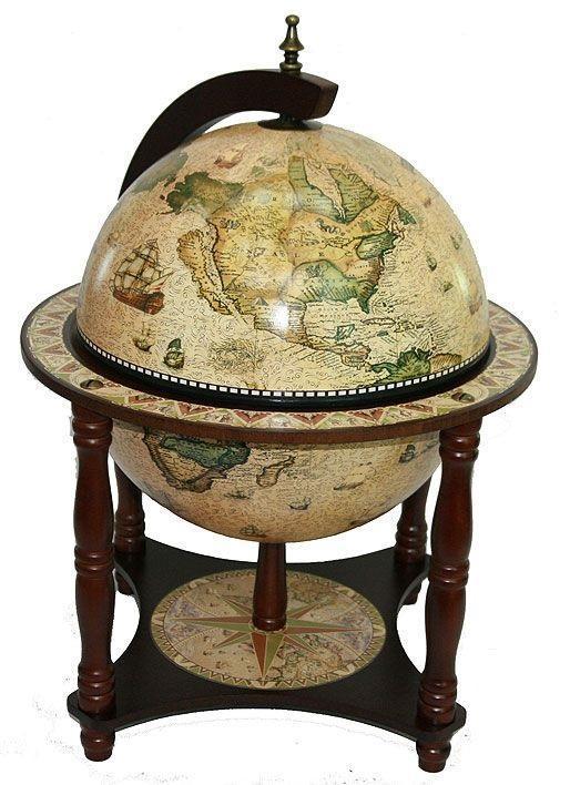 Глобус-бар настольный Сокровища предков, диаметр 33см