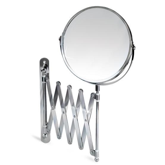 """Зеркало двустороннее выдвижное Tatkraft """"Aurora"""" изготовлено из хромированной стали. Выдвигается на 56 см, дизайн крепления гормошка. Геометрические искажения отсутствуют. Одна сторона имеет трехкратное увеличение. Характеристики:Материал:  стекло, нержавеющая сталь. Диаметр зеркала: 17 см. Максимальная длина выдвижения: 56 см. Минимальная длина выдвижения: 9 см. Размер упаковки: 20 см х 19 см х 4 см. Артикул: 11106."""