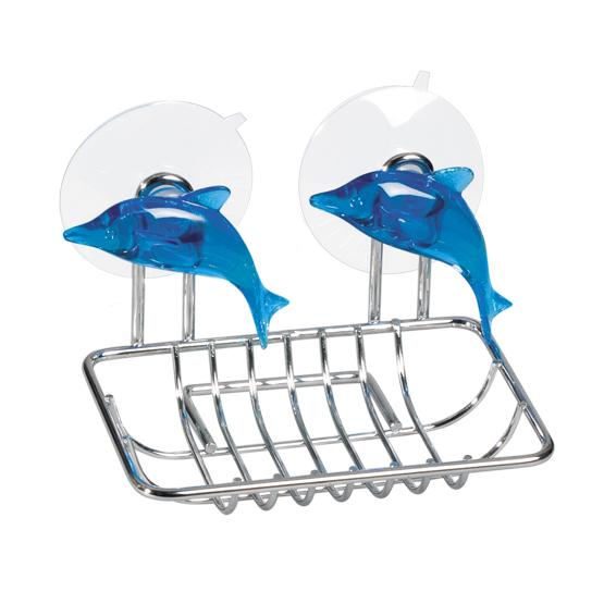 Мыльница Tatkraft Dolphin Blue, 12,5 х 9 х 10 см крючок двойной tatkraft mega lock на вакуумном шурупе