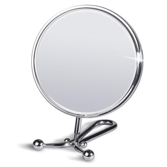 Зеркало двустороннее складное настольное Tatkraft Felicia, диаметр 15 см11304Зеркало Tatkraft Felicia имеет 2 стороны, одна из которых с двухкратным увеличением. Можно использовать как ручное или настольное. Наклон зеркала регулируется.Характеристики:Материал:пластик, стекло.Диаметр зеркала: 15 см.Длина подставки: 15 см.Размер упаковки: 17 см х 30 см х 3,5 см.Артикул: 11304.