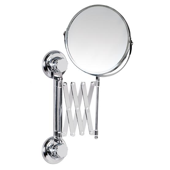 Зеркало двустороннее выдвижное Tatkraft Mega Lock, диаметр 15 см полка для ванной tatkraft mega lock