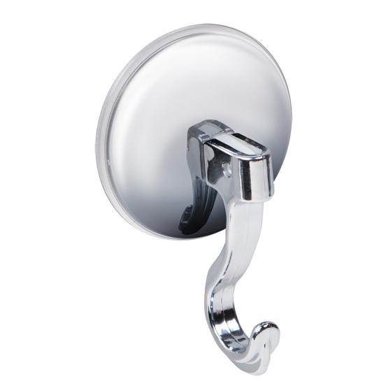 """Настенный крючок Tatkraft """"Magic Hook"""" на присоске позволяет избежать сверления стены. Крючок изготовлен из хромированного пластика. Хромированная чашка защищает крючок от стрессовых нагрузок.  Перед креплением крючка необходимо обезжирить поверхность, на которую будет устанавливаться присоска, хорошо просушить данную поверхность.   Вакуумная присоска может быть использована только на ровной воздухонепроницаемой поверхности - плитке, стекле, металле, пластике, зеркале, оргстекле и т.п. Характеристики:  Материал:  хромированный пластик. Цвет:  стальной. Диаметр вакуумной присоски:  6 см. Высота крючка: 9 см. Размер упаковки:  14 см х 9 см х 3,5 см. Артикул: 11625."""