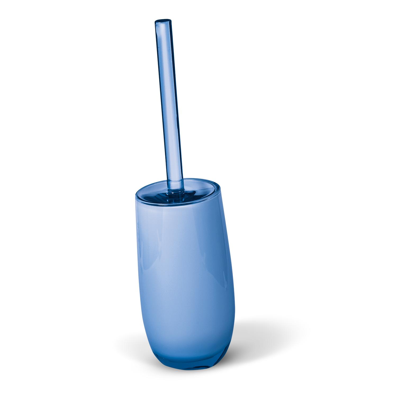 Гарнитур для туалета Immanuel Repose Blue, цвет: голубой. 1228812288Гарнитур для туалета Immanuel Repose Blue включает в себя ершик и подставку. Ершик с жестким ворсом имеет удобную ручку, которая выполнена из прозрачного акрила. Подставка изготовлена из акрила голубого цвета с пластиковой емкостью внутри. Ершик полностью вставляется в подставку и закрывается крышкой, что обеспечит гигиеничность использования и облегчит уход. Ершик отлично чистит поверхность, а грязь с него легко смывается водой. Характеристики:Материал:акрил. Цвет: голубой. Длина ершика: 33 см. Длина ворса: 1,5 см. Диаметр подставки для ершика по верхнему краю: 8,5 см. Высота подставки: 18,5 см. Артикул: 12288.