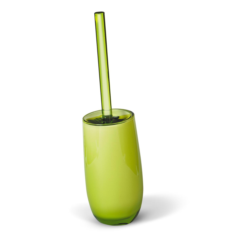 Гарнитур для туалета Immanuel Repose Green, цвет: салатовый. 1233212332Гарнитур для туалета Immanuel Repose Green включает в себя ершик и подставку. Ершик с жестким ворсом имеет удобную ручку, которая выполнена из прозрачного акрила. Подставка изготовлена из акрила салатового цвета с пластиковой емкостью внутри. Ершик полностью вставляется в подставку и закрывается крышкой, что обеспечит гигиеничность использования и облегчит уход. Ершик отлично чистит поверхность, а грязь с него легко смывается водой. Характеристики:Материал:акрил. Цвет: салатовый. Длина ершика: 34 см. Длина ворса: 1,5 см. Диаметр подставки для ершика по верхнему краю: 8,5 см. Высота подставки: 18,5 см. Артикул: 12332.