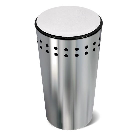 Корзина для белья Tatkraft Dolly, с крышкой-сидением, 32 л13025Оригинальная корзина для белья Tatkraft Dolly из нержавеющей стали - это функциональная и полезная вещь, которая не только сохранит ваше белье, но и стильно украсит интерьер ванной комнаты. Крышка закрывается плотно, выполнена в виде мягкого сиденья - благодаря этому корзину можно использовать не только по прямому назначению, но и в качестве дополнительного стула. Внутренний объем 32 литра, что достаточно для хранения вещей семьи из 3-4 человек. Модель прекрасно впишется в любой интерьер ванной комнаты. Хромированная сталь - долговечный материал, устойчивый к повышенной влажности и коррозии.