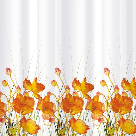 Шторка для ванной Tatkraft French Poppiers, цвет: белый, оранжевый, 180 х 180 см14046Шторка для ванной Tatkraft French Poppiers, изготовленная из Peva - водонепроницаемого, мягкого на ощупь и прочного материала, декорирована ярким рисунком в виде оранжевых маков. Не содержит ПВХ. Шторка быстро сохнет, легко моется и обладает повышенной износостойкостью. В комплекте также имеется 12 овальных колец. Шторка оснащена магнитами-утяжелителями для лучшей фиксации.Шторка для ванной Tatkraft French Poppiers порадует вас своим ярким дизайном и добавит уюта в ванную комнату. Характеристики:Материал: 50% полиэтилен, 50% этиленвинилацетат (Peva). Цвет: белый, оранжевый. Размер шторки: 180 см х 180 см. Количество колец: 12 шт. Размер упаковки: 20,5 см х 29 см х 3,5 см. Производитель: Эстония. Изготовитель: Китай. Артикул: 14046.