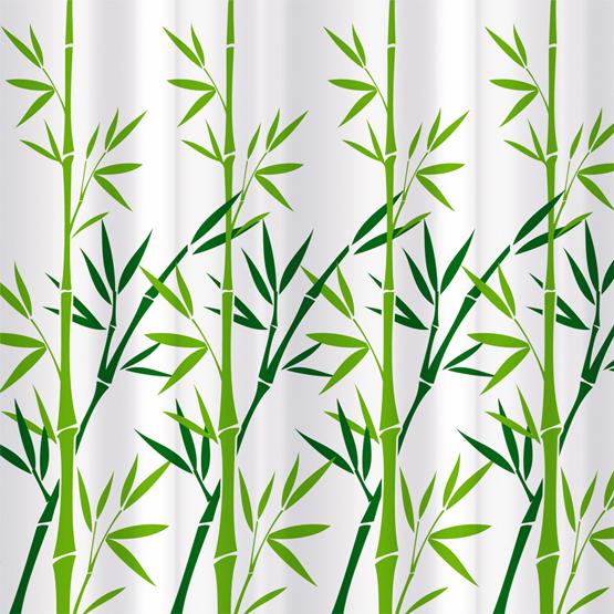 Шторка для ванной Tatkraft Bamboo Green, цвет: белый, зеленый, 180 х 180 см tatkraft mega lock