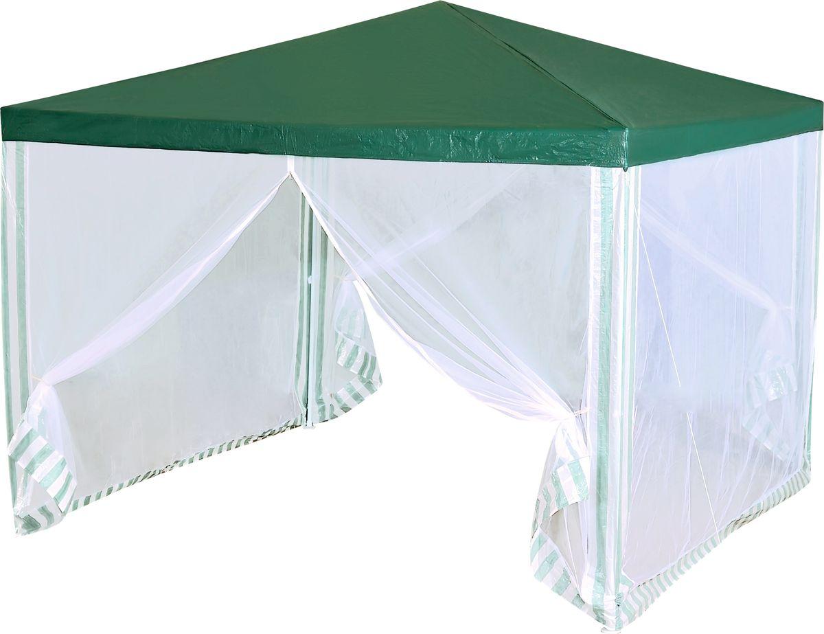 Тент садовый Green Glade 1028, 300 х 300 х 250 см1028Садовый тент Green Glade 1028 станет отличным помощником в организации праздника на свежем воздухе. Выполнен из высококачественного сетчатого полиэтилена. Каркас изготовлен из металлической трубки, благодаря чему тент имеет долгий срок эксплуатации. Тент защитит вас от дождя и солнца в летний день. Легко собирается, не занимает много места в сложенном виде.Не использовать при сильном ветре и дожде!