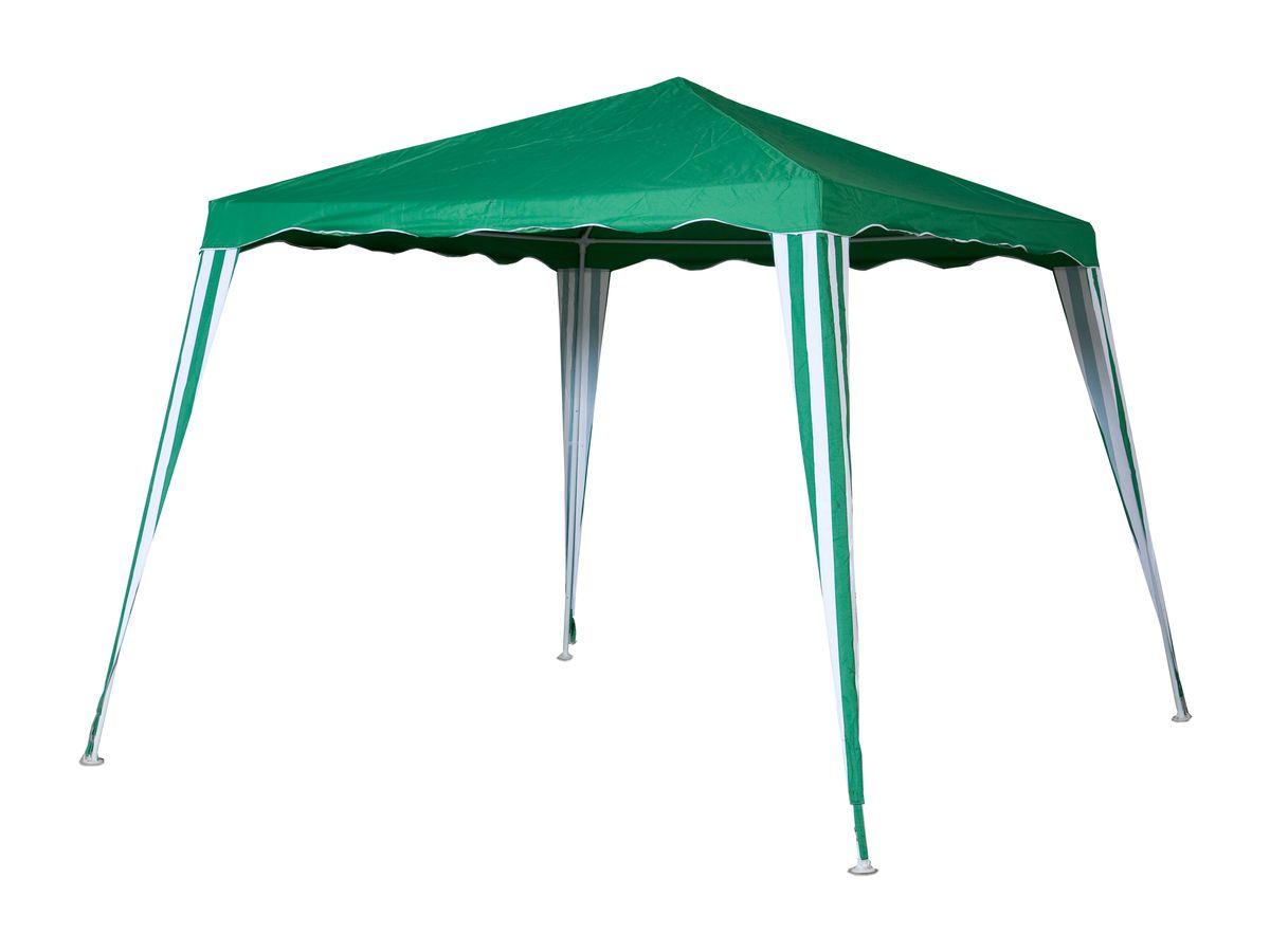Тент садовый Green Glade 1082, 240 х 240 см / 300 х 300 х 250 см1082Садовый тент Green Glade 1082 станет отличным помощником в организации праздника на свежем воздухе. Выполнен из высококачественного полиэстера 240G с водоотталкивающей пропиткой. Каркас изготовлен из металлической трубки, благодаря чему тент имеет долгий срок эксплуатации. Тент защитит вас от дождя и солнца в летний день. Легко собирается, не занимает много места в сложенном виде. Тент шатер Green Glade 1082 имеет прочный металлический каркас из металлической трубки 19x19x25 мм. Тент выполнен в виде квадрата с наклонными стенками (снизу 300x300 см, сверху 240x240) и высотой 250 см. Не использовать при сильном ветре и дожде!