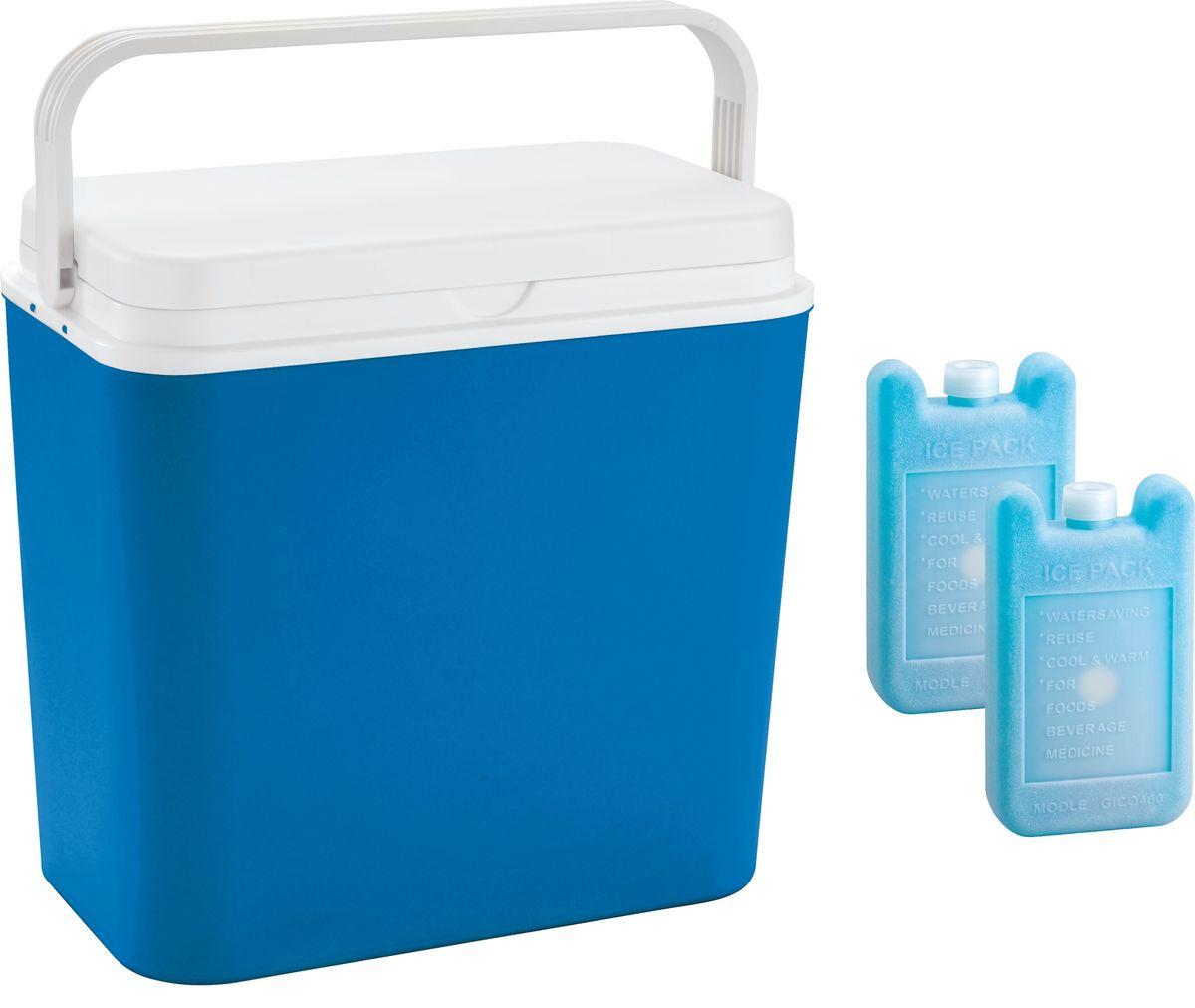 Контейнер изотермический Atlantic Cool Box, цвет: синий, 24 л + аккумулятор холода, 2 х 400 г3702Легкий и прочный изотермический контейнер Atlantic Cool Box предназначен для сохранения определенной температуры продуктов во время длительных поездок. Корпус и крышка контейнера изготовлены из высококачественного пластика. Между двойными стенками находится термоизоляционный слой, который обеспечивает сохранение температуры. Крышку можно использовать в качестве столика или подноса. Ручка служит фиксатором крышки, которая закрывается очень плотно. К контейнеру прилагается два аккумулятора холода по 400 г каждый.При использовании аккумулятора холода контейнер обеспечивает сохранение продуктов холодными до 12 часов.Температурный режим эксплуатации: от -30°C до +60°C. Контейнер идеально подходит для отдыха на природе, пикников, туристических походов и путешествий.Объем контейнера: 24 л.Размер контейнера: 39 см х 38 см х22 см.