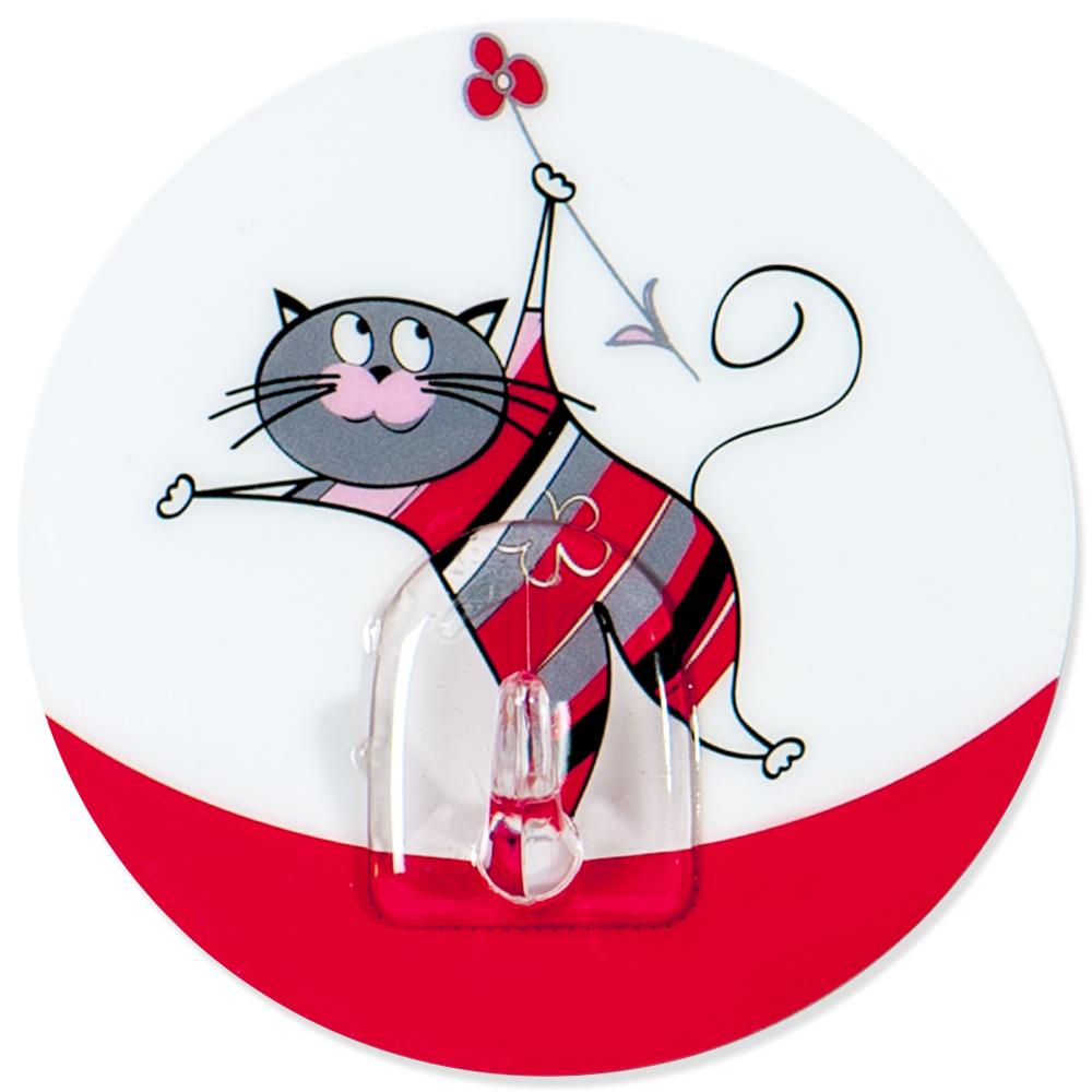 Крючок адгезивный Tatkraft Funny cats21099Крючок адгезивный Tatkraft Funny cats изготовлен из пластика. Крючок может быть установлен только на ровной воздухонепроницаемой поверхности: плитка, стекло, пластик, металл, ламинированное дерево и другие. Крючок является многоразовым, что позволяет перевесить его в любое удобное место. Крючок Tatkraft Funny cats имеет авторский дизайн, который украсит любой интерьер. Диаметр: 8 см. Длина крючка: 1,5 см.Максимальный вес: 3 кг.