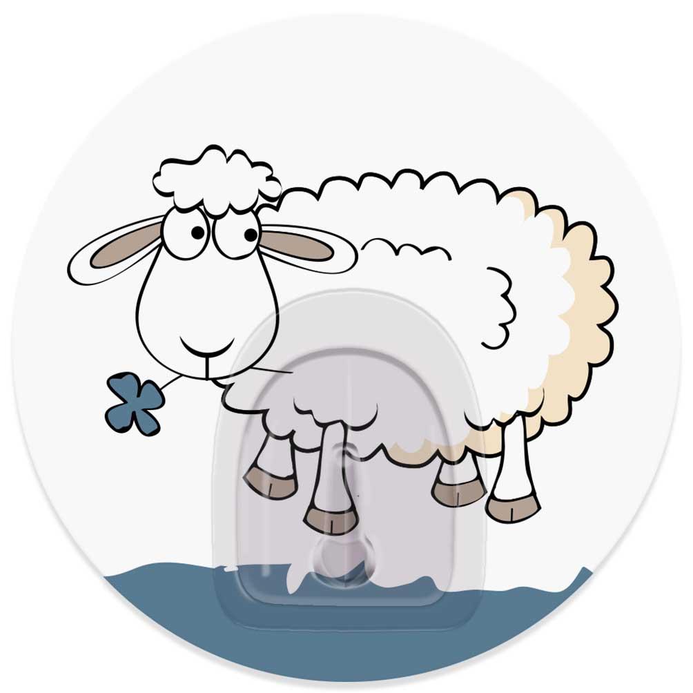 Крючок адгезивный Tatkraft Funny Sheep. Bella, диаметр 8 см sweet women s tote bag with metallic and bowknot design