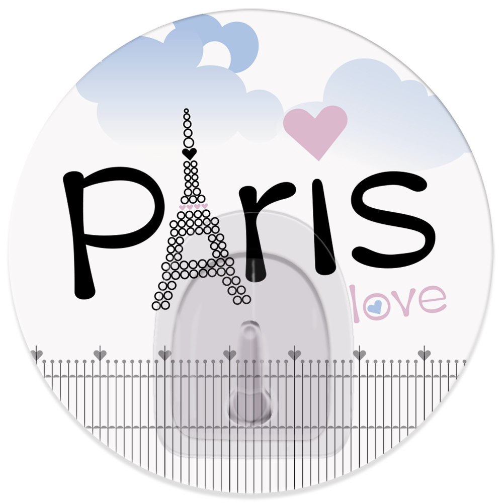 Крючок адгезивный Tatkraft Paris. Love, диаметр 8 см tatkraft mega lock
