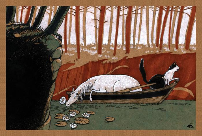 Открытка По течению. Из набора Про Лошадь. Автор Катя БауманBE10-006Оригинальная дизайнерская открытка По течению из набора «Про лошадь» выполнена из плотного матового картона. На лицевой стороне расположена репродукция картины художника Екатерины Бауман. На задней стороне имеется поле для записей. Такая открытка станет великолепным дополнением к подарку или оригинальным почтовым посланием, которое, несомненно, удивит получателя своим дизайном и подарит приятные воспоминания.