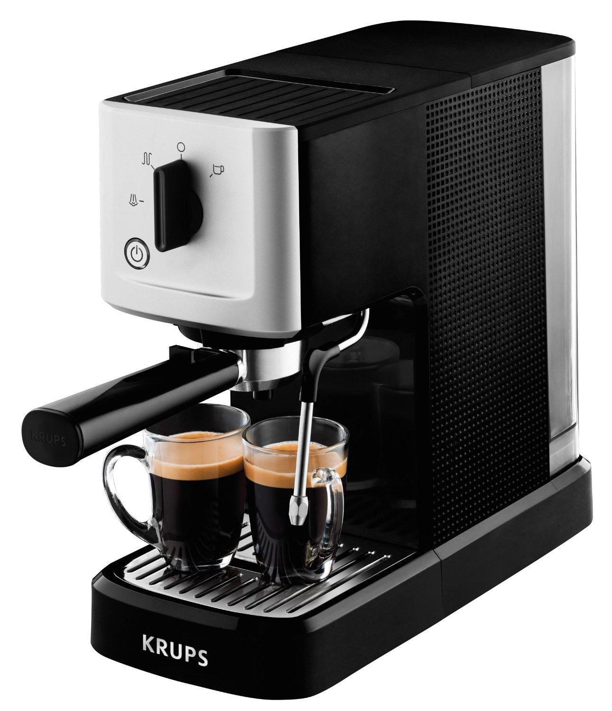 Krups XP344010 рожковая кофеваркаXP344010Система термоблок компакт (15 бар)Вода в термоблоке нагревается моментально и равномерно до оптимальной температуры 90–95°С и не застаивается внутри системы. Термоблок долговечен и в меньшей степени подвержен образованию накипиВариации использованияПриготовление 1 или 2 чашек, использование порционного кофе