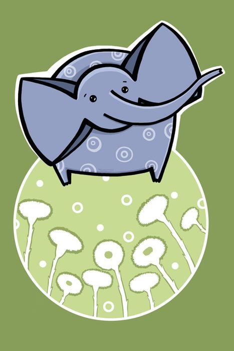 Открытка Слон. Автор Татьяна Перова открытка крокодил автор варя колесникова