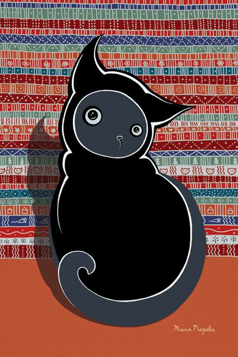 """Открытка """"Япона-кот"""". Автор Татьяна Перова"""