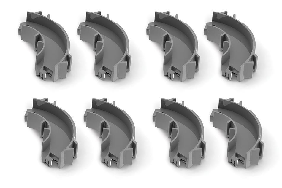 Набор угловых элементов для нанодрома Hexbug Curved Parts трассы