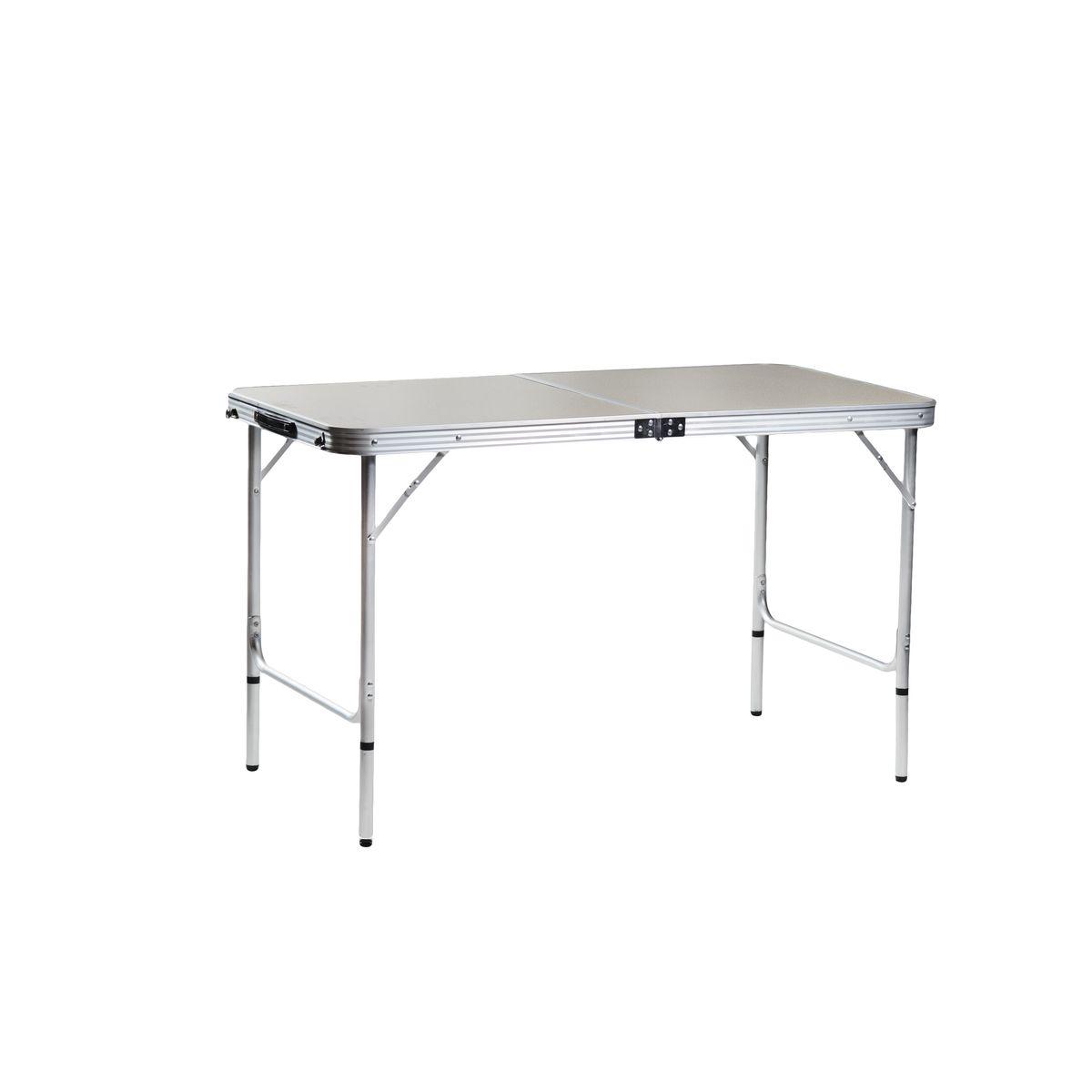 Стол складной Green Glade, 120 х 60 х 70 смМ5104Стол Green Glade прекрасно подойдет для отдыха на природе или на даче. Стол удобно и компактно складывается, легко раскладывается. Каркас выполнен из алюминия, материал столешницы - МДФ серого цвета. Оснащен ручкой для переноски. Размер стола (в собранном виде): 61 см х 61 см х 9 см. Размер стола (в разобранном виде): 120 см х 60 см х 70 см.Диаметр алюминиевых стрежней: 24 мм.