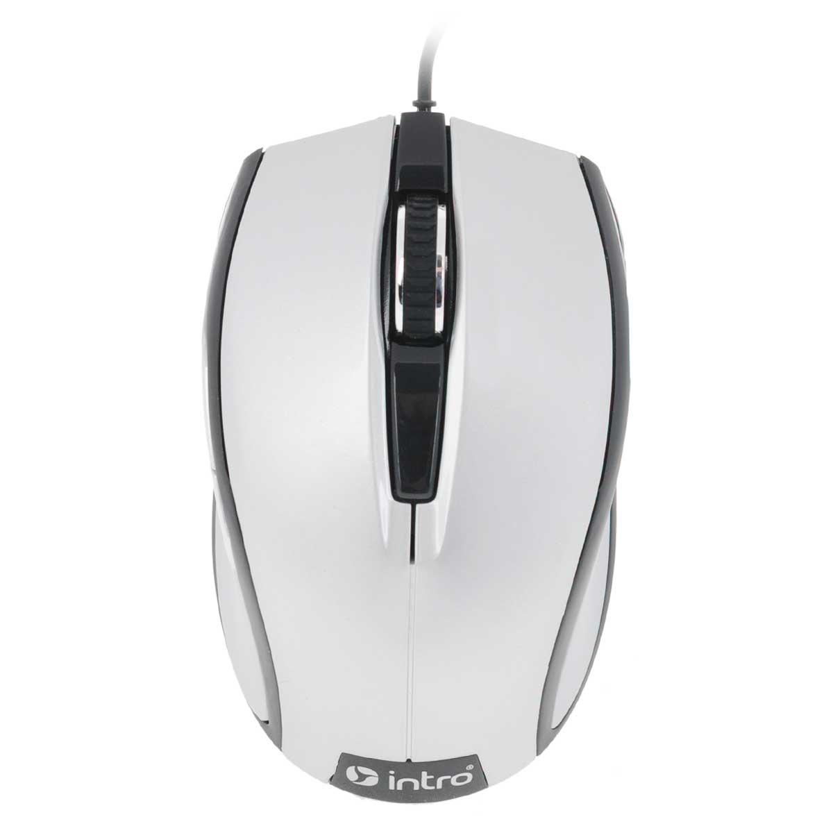 Intro MU104, Silver мышьMU104Стильная проводная мышь Intro MU104 обладает эргономичным дизайном и отлично подходит как для игр, так и для работы в офисе.