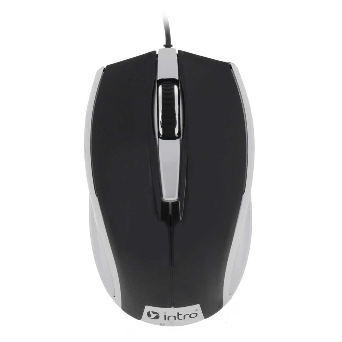 цена на Intro MU104, Black Silver мышь