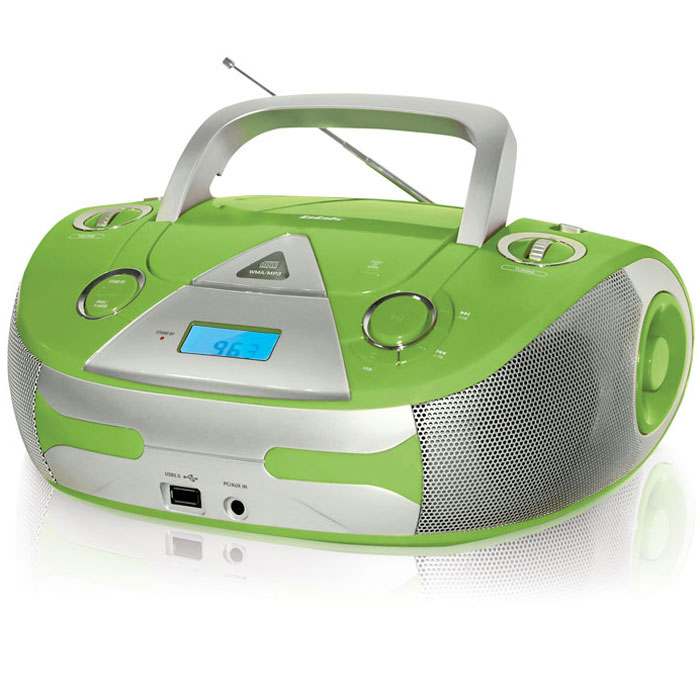 BBK BX325U, Green Silver CD/MP3 магнитола