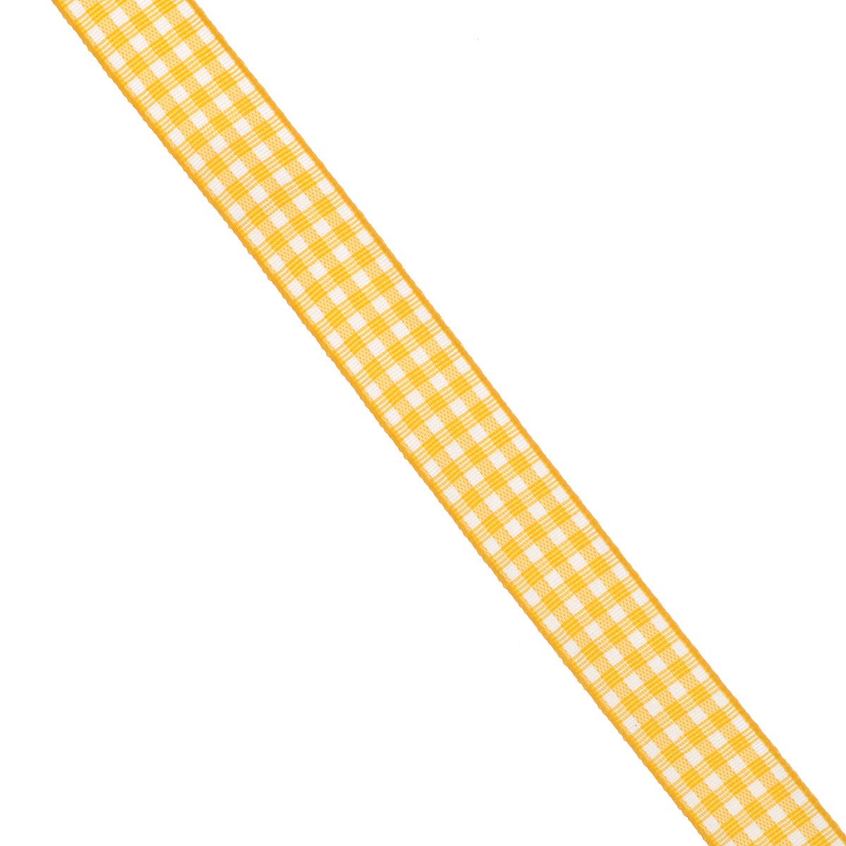 Лента декоративная Brunnen, цвет: желтый, ширина 1,5 см, длина 2 м834113-10\STWДекоративная лента Brunnen, изготовленная из текстиля, предназначена для оформления цветочных букетов, подарочных коробок, пакетов. Кроме того, она с успехом применяется для художественного оформления витрин, праздничного оформления помещений, изготовления искусственных цветов. Ее также можно использовать для творчества в различных техниках, таких как скрапбукинг, оформление аппликаций, для украшения фотоальбомов, подарков, конвертов, фоторамок, открыток и т.д.Ширина ленты: 1,5 см.Длина ленты: 2 м.