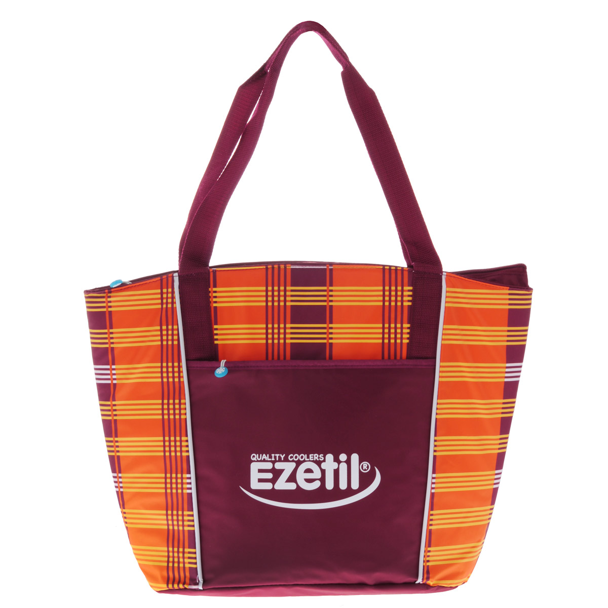 Сумка-холодильник Ezetil KC Lifestyle, цвет: оранжевый, бордовый, 25 л802900Удобная сумка-холодильник Ezetil KC Lifestyle выполнена в элегантном дизайне. Она изготовлена из износостойких материалов, устойчивых к воде, безопасных в контакте с пищей и простых в уходе. Очень прочная нейлоновая внешняя ткань. Внутренняя поверхность сделана по бесшовной технологии и не протекает. Легко чистится. Сумка состоит из одного изотермического отделения, закрывающегося на застежку-молнию. На внешней стороне имеет дополнительный вшитый карман на молнии. Внутри есть дно, чтобы сумка не теряла форму. Сумка Ezetil KC Lifestyle сохраняет температуру до 14 часов (при использовании аккумулятора холода - продается отдельно).Объем сумки: 25 л. Изоляция: 10 мм.