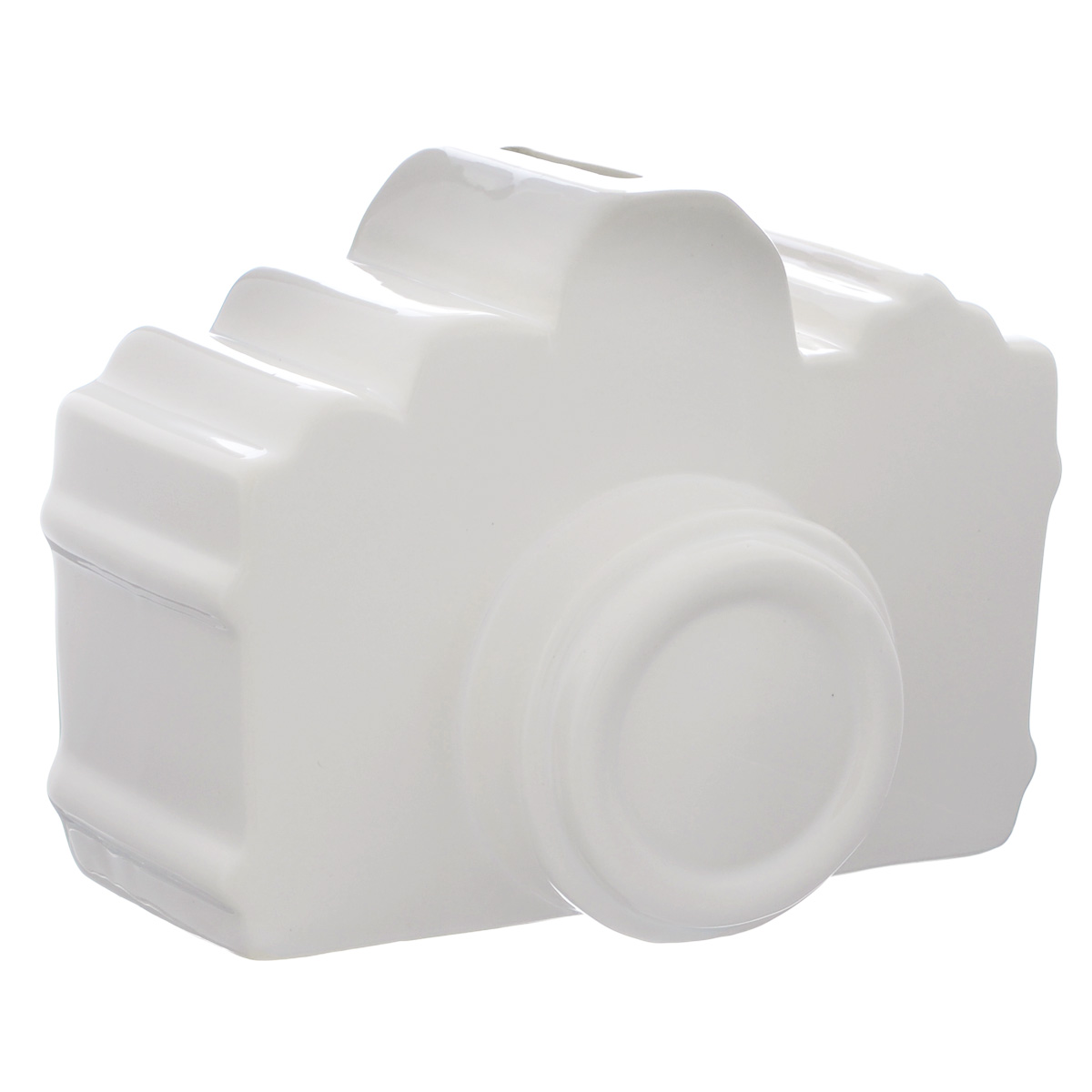 Копилка декоративная Фотоаппарат, цвет: белый