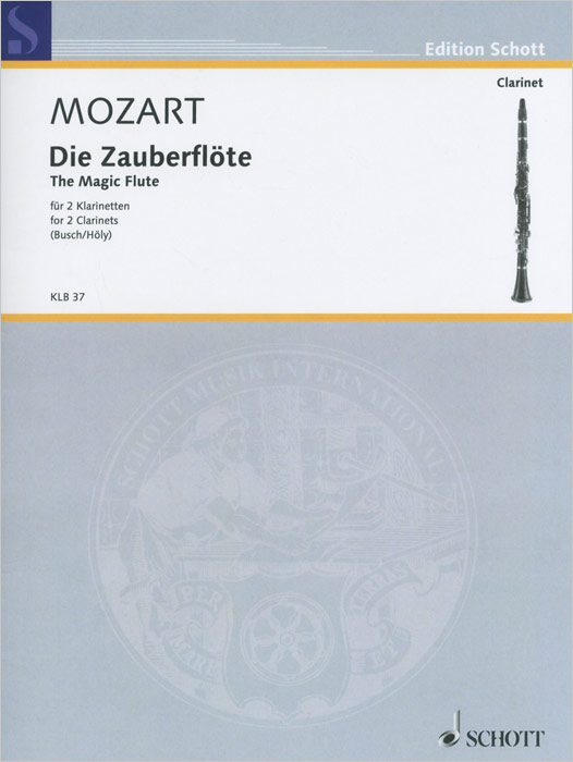 Wolfgang Amadeus Mozart Wolfgang Amadeus Mozart: The Magic Flute for 2 Clarinets in the spring of the new han edition cuhk boy sports leisure fleece two piece outfit