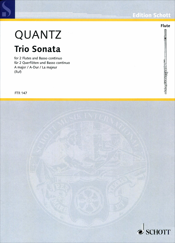 Johann Joachim Quantz Johann Joachim Quantz: Trio Sonata A Major for 2 Flutes and Basso Continuo piaget possession g0a36188
