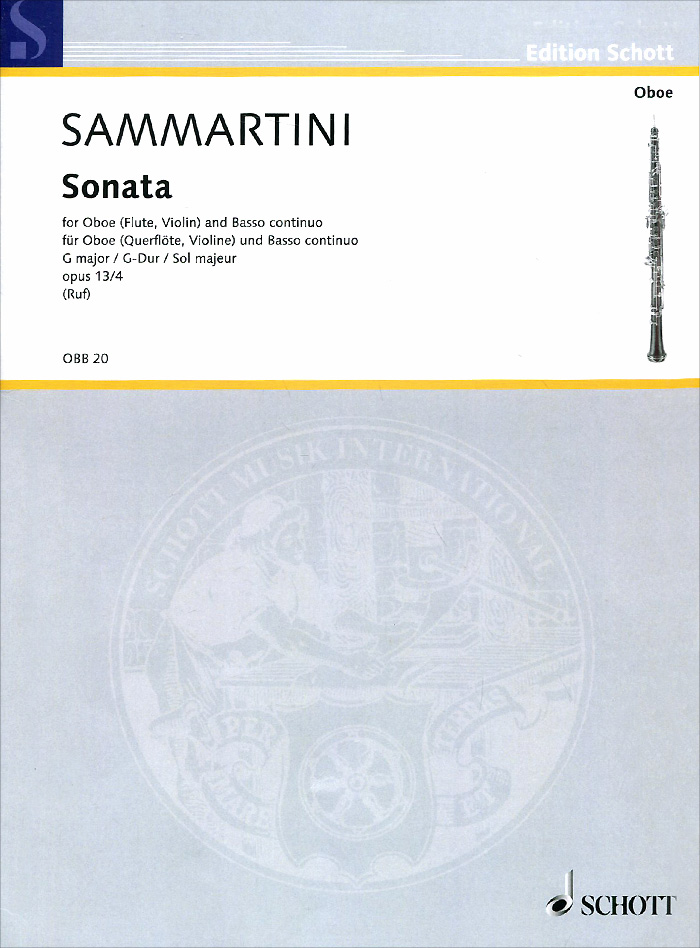 Giovanni Battista Sammartini Giovanni Battista Sammartini: Sonata G Major for Oboe (Flute, Violin) and Basso Continuo cuhaj g south asian couns and paper money indian edition isbn 9781440236617