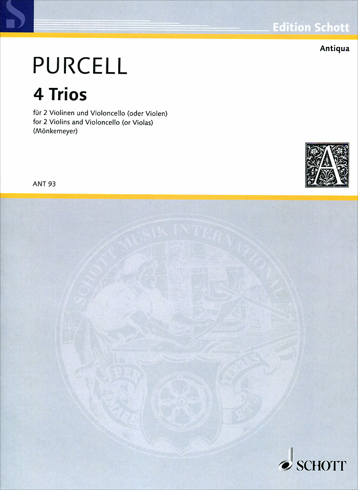 Henry Purcell Henry Purcell: 4 Trios for 2 Violins and Violoncello (Or Violas)