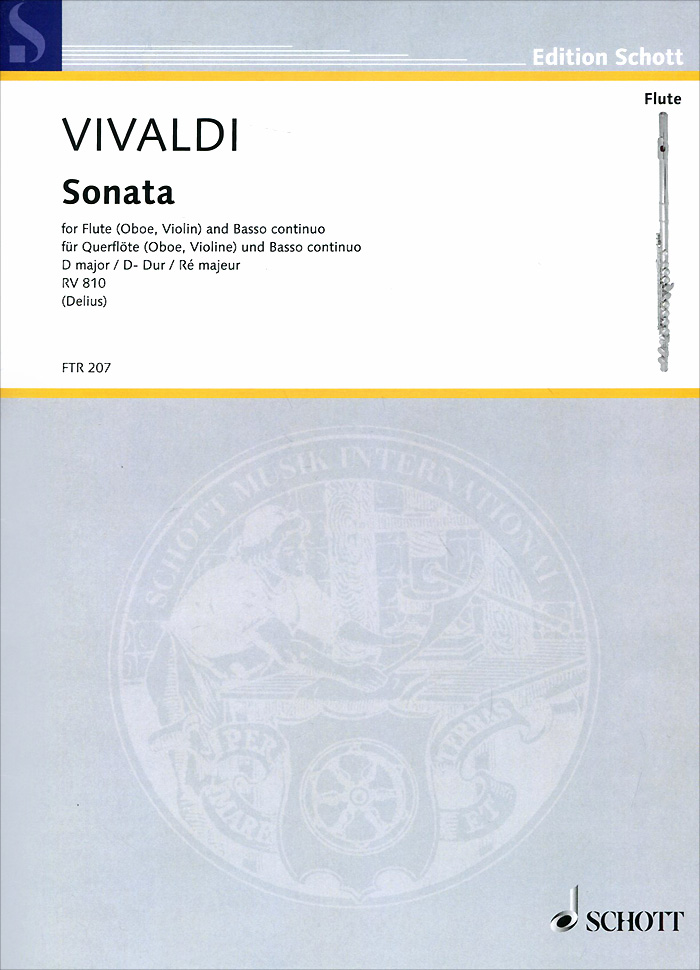 Antonio Vivaldi Antonio Vivaldi: Sonata D Major RV 810 for Flute (Oboe, Violin) and Basso Continuo wholesale inventory students 16 hole plus the e key the obturator flute instrument black body silver grant