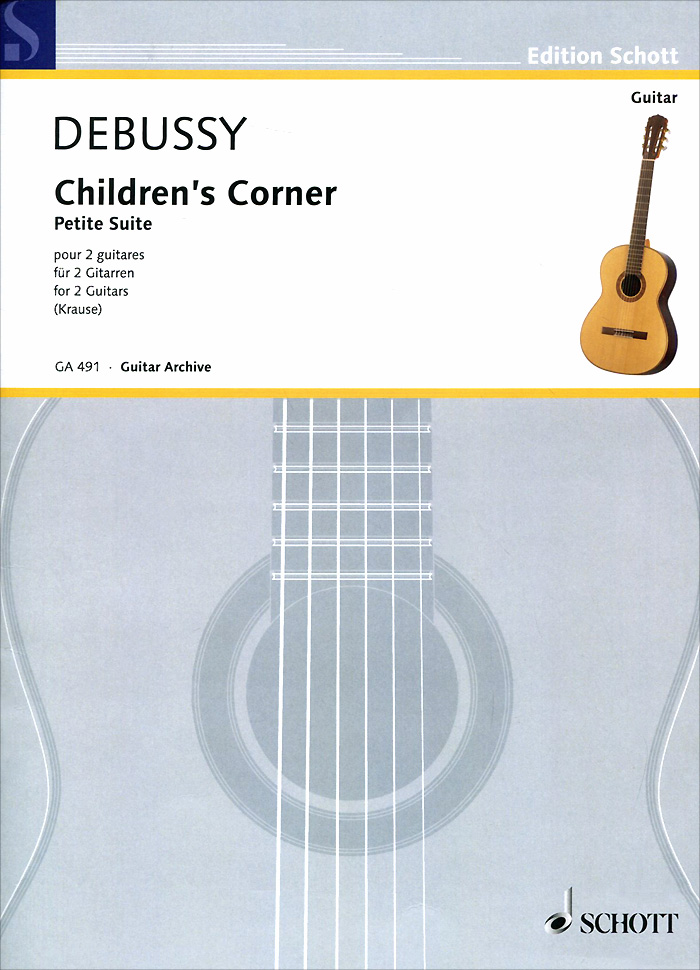 Claude Debussy Claude Debussy: Children's Corner: Petite Suite for 2 Guitars sews aroma ags 03 stand a frame holder bracket for all sizes of guitars basses stringed instrument universal