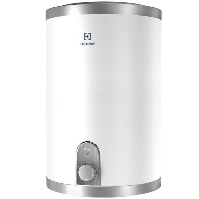 Electrolux EWH 15 Rival O водонагревательEWH 15 Rival OВодонагреватель Electrolux EWH 15 Rival O обладает компактными размерами при высокой производительности. Данная модель имеет нижнее подключение к источнику воды. Этот водонагреватель идеален для установки в небольших помещениях. Предусмотрена возможность выбора экономичного режима нагрева, что позволяет обеспечить горячей водой даже большую семью.Внутренний бак изготовлен из нержавеющей стали, одобренной для применения в медицине и пищевом производстве. Для нагрева воды используются медные нагревательные элементы с никелированным покрытием, которое значительно увеличивает рабочий ресурс устройства. При помощи ручки управления можно настроить необходимый уровень температуры воды. В качестве дополнительной защиты нагревательного элемента установлен магниевый анод для предотвращения оседания известковых отложений. Специальный термостат не дает воде нагреться выше 75°C, а защита от сухого нагрева отключает нагревательный элемент в случае отсутствия воды в баке. Для эффективной теплоизоляции приборов использован 22-миллиметровый слой вспененного полиуретана.Время нагрева до 75 °С: 41 минИндикатор времени нагрева