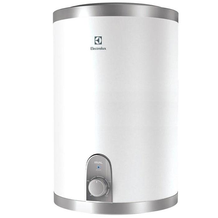 Electrolux EWH 15 Rival U водонагревательEWH 15 Rival UВодонагреватель Electrolux EWH 15 Rival U обладает компактными размерами при высокой производительности. Данная модель имеет верхнее подключение к источнику воды. Этот водонагреватель идеален для установки в небольших помещениях. Предусмотрена возможность выбора экономичного режима нагрева, что позволяет обеспечить горячей водой даже большую семью.Внутренний бак изготовлен из нержавеющей стали, одобренной для применения в медицине и пищевом производстве. Для нагрева воды используются медные нагревательные элементы с никелированным покрытием, которое значительно увеличивает рабочий ресурс устройства. При помощи ручки управления можно настроить необходимый уровень температуры воды. В качестве дополнительной защиты нагревательного элемента установлен магниевый анод для предотвращения оседания известковых отложений. Специальный термостат не дает воде нагреться выше 75°C, а защита от сухого нагрева отключает нагревательный элемент в случае отсутствия воды в баке. Для эффективной теплоизоляции приборов использован 22-миллиметровый слой вспененного полиуретана.Время нагрева до 75 °С: 41 минутаИндикатор времени нагрева