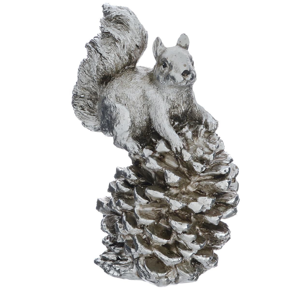 Фигурка декоративная Molento Белка с шишкой, высота 14,5 см