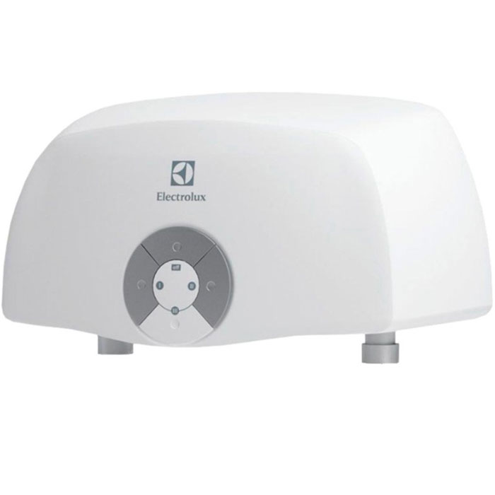 Electrolux Smartfix 2.0 S (5,5 кВт) проточный водонагревательSMARTFIX 2.0 S(5,5 kW)душМодель проточных водонагревателей Electrolux Smartfix 2.0 S (5,5 кВт) отличается высокой производительностью по нагреву воды за счет применения мощных нагревательных элементов из меди. Водонагреватель предназначен для обеспечения горячей водой одной точки водоразбора.В устройстве используется гидравлическая система управления, что дает возможность поддерживать температуру воды в зависимости от величины потока и регулировок смесителя. Для удобства предусмотрена функция автоматического включения и выключения при открытии и закрытии водопроводного крана. Имеются три режима мощности для экономии электроэнергии и повышения производительности прибора, который способен производить до 3,1 литров горячей воды в минуту.Водонагреватель оснащен датчиком давления, а также специальным термостатом, который обеспечивает защиту от перегрева. Устройство может легко и быстро подключаться к стационарному смесителю, став отличным решением на время отключений горячей воды.