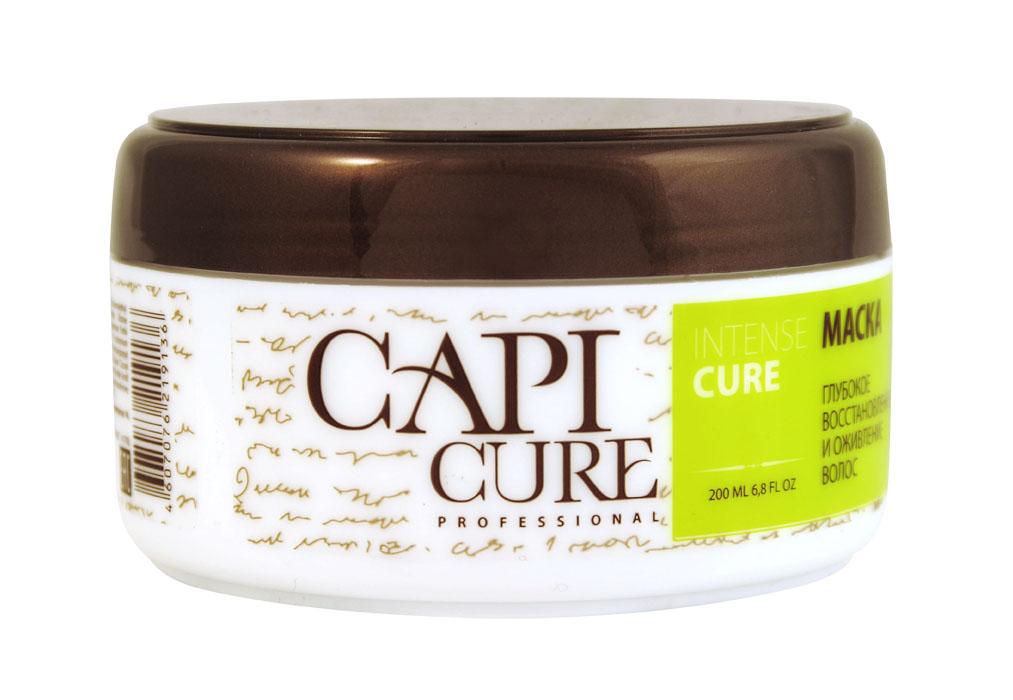 CapiCure Маска Глубокое восстановление и Оживление волос, 200 мл02045201Маска Глубокое восстановление и Оживление волосIntense Repair MaskБлагодаря высококонцентрированной формуле маска для волос CapiCure способствует оживлению и восстановлению волос на клеточном уровне. Комплекс растительных протеинов выравнивает структуру волоса по всей длине, восстанавливая поврежденные участки, возвращая волосам эластичность и здоровый блеск. Защитный комплекс с питательным маслом ши и подсолнечника обволакивает волос от корня до кончика, разглаживая поверхность и запечатывая лечебные компоненты внутри. Активный комплекс из растительных масел и протеинов увлажняет волосы, защищает от сечения и ломкости, без утяжеления. CapiCure – это система комплексного восстановления волос после длительных и агрессивных повреждений. Все продукты серии предназначены и максимально эффективны для глубинного восстановления волос, дополняют действие друг друга и обеспечивают стойкий результат - увлажненные, живые и блестящие волосы.