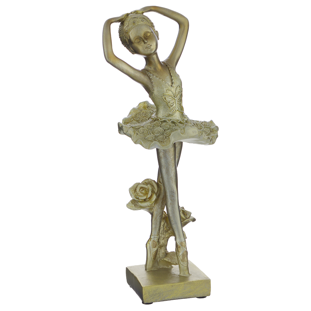 Фигурка декоративная Molento Маленькая балерина, высота 26 см549-089Декоративная фигурка Molento Маленькая балерина, изготовленная из полистоуна, выполнена в виде девочки-балерины. Такая фигурка станет отличным дополнением к интерьеру.Вы можете поставить фигурку в любом месте, где она будет удачно смотреться, и радовать глаз. Кроме того, фигурка Маленькая балерина станет чудесным сувениром для ваших друзей и близких. Размер фигурки: 10 см х 9 см х 26 см.