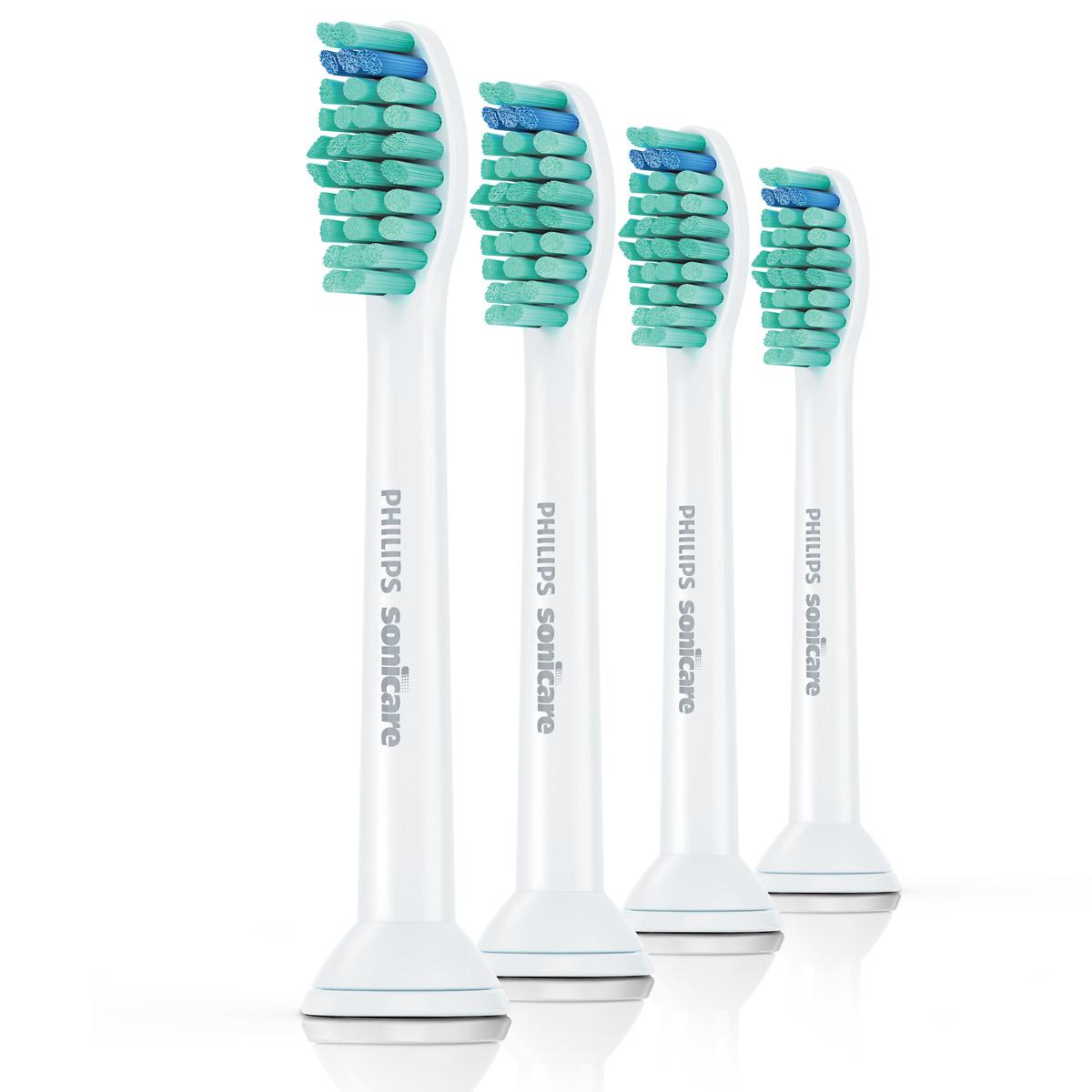 Philips HX6014/07 чистящая головка для зубного центра FlexCare и звуковой зубной щетки HealthyWhite, 4 штHX6014/07Сменные насадки для зубного центра FlexCare и звуковой зубной щетки HealthyWhite.Расположенная под углом щетина радиальной формы увеличивает обрабатываемую поверхность:Изогнутая поверхность за счет расположенной под углом щетины радиальной формы способствует плотному контакту с поверхностью зубов и десен, так как насадка щетки поворачивается и охватывает больший участок - при этом размер чистящей насадки не увеличивается.Закругленная щетина повторяет форму зубов:Щетина электрической зубной щетки Philips Sonicare имеет закругленный срез, что идеально подходит для естественной формы зубов. Длинные и короткие щетинки по всей длине насадки отличаются эргономичным дизайном, который учитывает рельеф зубов и обеспечивает максимальную эффективность чистки между зубами.Дизайн насадки увеличивает звуковую вибрацию:Благодаря продуманному дизайну и высокой точности конструкции сменные насадки Philips Sonicare в сочетании с запатентованной звуковой технологией и несколькими режимами чистки на выбор гарантируют тщательную чистку.Индикаторные щетинки обеспечивают эффективность чистки:По индикаторным щетинкам можно легко определить, когда необходимо заменить насадку. Через три месяца регулярного использования щетинки изнашиваются, и эффективность чистки снижается. Меняйте насадки каждые 3 месяца.