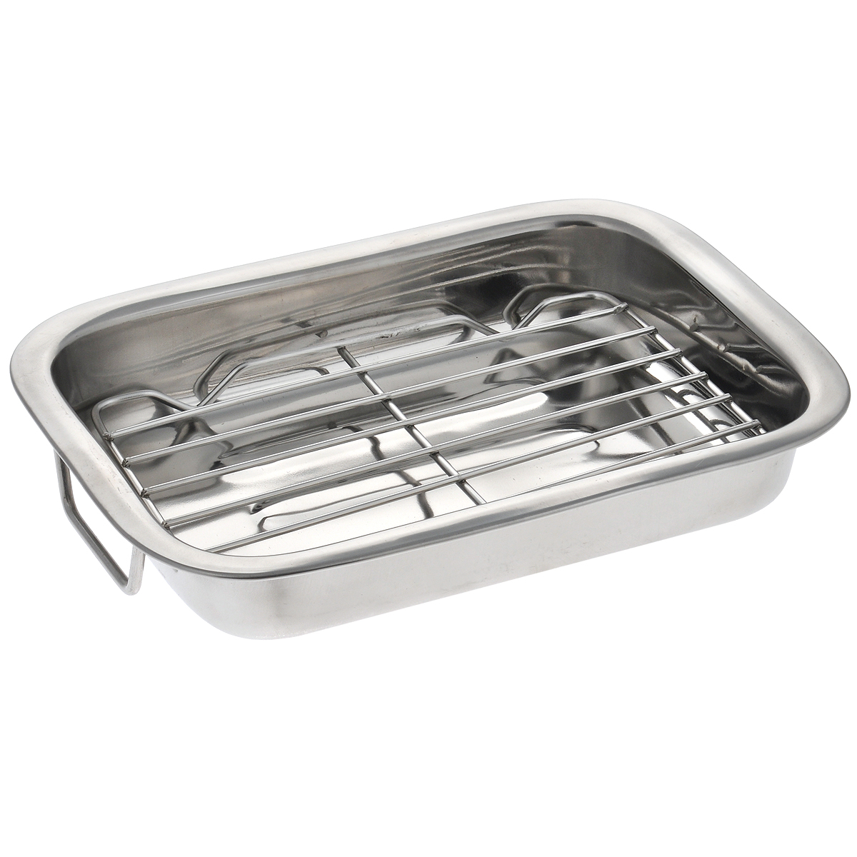 """Форма для запекания """"Padia"""" изготовлена из высококачественной нержавеющей  стали с матовой поверхностью внутри и снаружи. Загнутые округлые бока удобны  в эксплуатации. Изделие имеет прямоугольную форму, отличается  вместительностью. Форма идеальна для приготовления лазаньи, а также  запекания мяса  и овощей.  В комплекте - решетка-гриль. Удобные подвижные ручки позволяют  легко переносить форму.   Можно использовать в духовом шкафу и мыть в посудомоечной машине. Размер формы (по верхнему краю): 26 см х 20 см. Высота стенки формы: 4 см. Размер решетки-гриль: 15 см х 20 см х 1,5 см."""