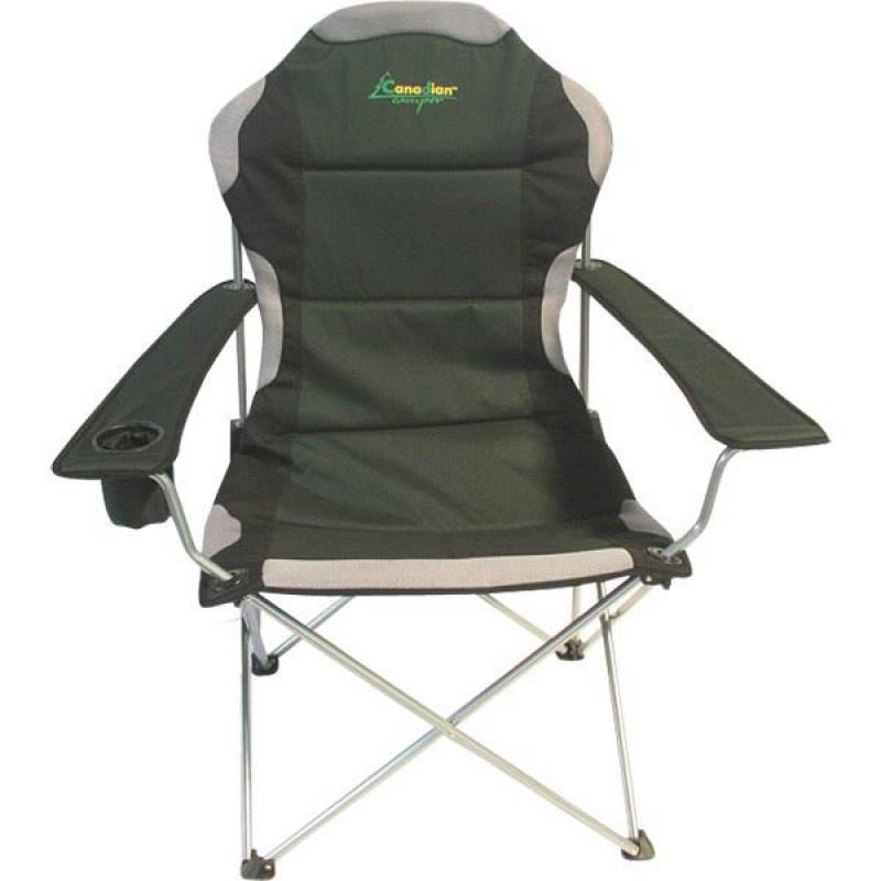Кресло складное Canadian Camper CC-128, цвет: зеленый, 58 см х 66 см х 48/108 см