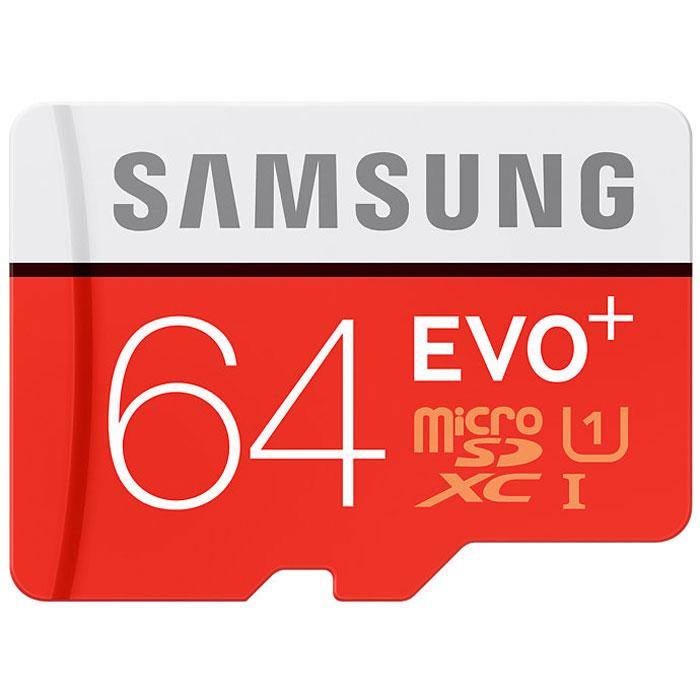 Samsung microSDXC Evo Plus 64GB + адаптерMB-MC64DA/RUSamsung microSDXC Evo Plus - карта памяти с высокой скоростью передачи и чтения данных. Стандарт UHS-I позволяет использовать такой носитель для записи фото- и видеофайлов с камеры с высоким разрешением и воспроизводить их без задержек. В комплекте поставляется переходник на SD, что позволяет использовать одни носитель с разными типами устройств.